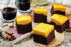 Brownies da abóbora imagem de stock