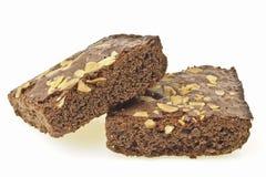 Brownies da inclinação fotografia de stock royalty free