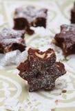 Brownies deliciosas Fotografia de Stock