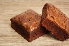 Brownies deliciosas do chocolate Imagem de Stock