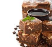 Brownies do bolo de chocolate Imagem de Stock
