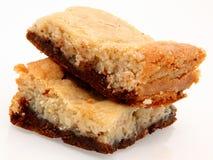 Brownies do bolo de queijo Fotografia de Stock Royalty Free