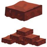 Brownies do caramelo de chocolate ilustração stock