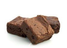 Brownies do chocolate Imagem de Stock
