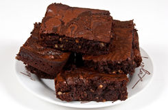 Brownies do chocolate Fotografia de Stock