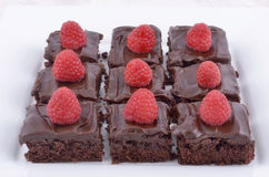 Brownies do chocolate Foto de Stock Royalty Free