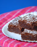 Brownies do chocolate Imagem de Stock