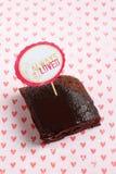 Brownies do chocolate do uísque Fotografia de Stock Royalty Free