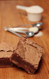 Brownies do Fudge foto de stock royalty free
