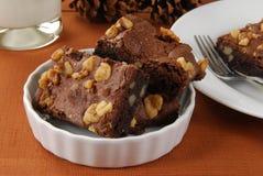 Brownies em borracha Foto de Stock Royalty Free