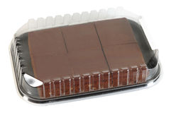 Brownies. Isolated Stock Photos