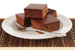Brownies. Isolated Royalty Free Stock Photo