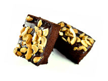 Brownies isolated on the white background Stock Photos