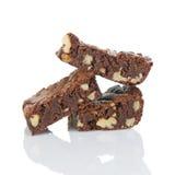 Brownies met Okkernoten Stock Afbeeldingen