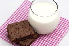 Brownies an milk Stock Photography