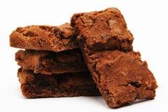 Brownies no branco Fotos de Stock Royalty Free