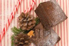 Brownies no Natal imagens de stock