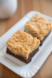 Brownies with peanuts Stock Photos