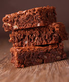 Brownies pile Royalty Free Stock Image