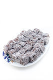Brownies on plate Royalty Free Stock Photography