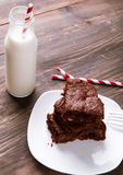 Brownies on the plate Stock Images