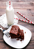 Brownies on the plate Stock Image