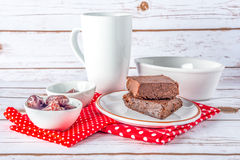 Brownies sem glúten saudáveis do estilo de Paleo Fotos de Stock Royalty Free