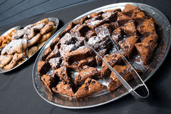 Brownies on tray Stock Image