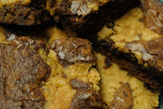 Brownies up close Stock Image