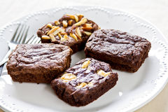 Brownies with varieties topping Royalty Free Stock Photo