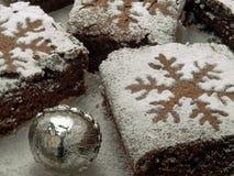 Brownies voor Kerstmis Royalty-vrije Stock Afbeeldingen