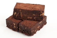 Brownies with walnuts Royalty Free Stock Photography