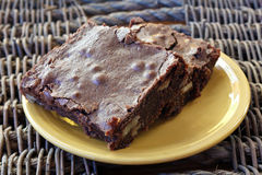 Brownies on Wicker Stock Images