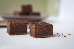 Brownies With a Wood Spoon Stock Image