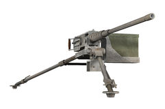 Browning Machine Gun. 3-D render of a Browning machine gun isolated on white Stock Photo