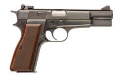 BrowningpistolHög-makt pistol Royaltyfri Foto