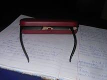 Eyeglass case. Brownish eyeglass case royalty free stock images