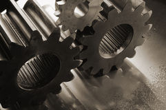 Brownish-gears highlights Royalty Free Stock Photography