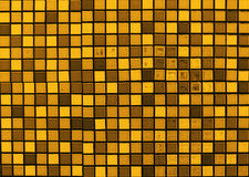Brownish tone mosaic tile background. Texture Stock Image
