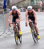 Brownlee bröder, cycling-2 royaltyfri fotografi