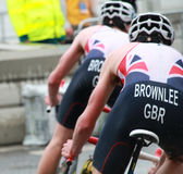 Brownlee bröder som cyklar Arkivbild