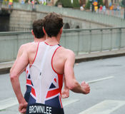 Brownlee brothers, running-2 Stock Photos
