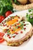 browns τηγανισμένο hash αυγών Στοκ Φωτογραφίες