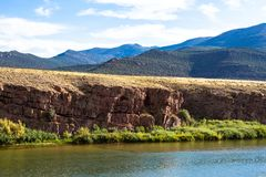 The Green River flows through Browns Park NWR in Colorado royalty free stock photos