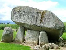 Brownshill dolmen in Ireland. Brownshill dolmen a megalithic portal tomb in County Carlow, Ireland royalty free stock image
