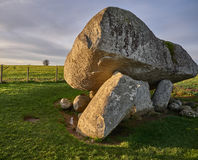 Brownshill Dolmen. The Brownshill Dolmen is a popular tourist destination in Carlow, Ireland royalty free stock photos