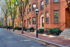 Brownstone Apartment Building. S, elegant street Stock Photography