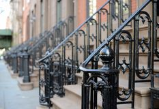 Brownstone Apartment steps Stock Image