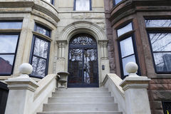 Brownstone Brooklyn, Park Slope row houses Royalty Free Stock Photos