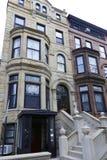 Brownstone Brooklyn, Parkowi skłonu rzędu domy Fotografia Royalty Free